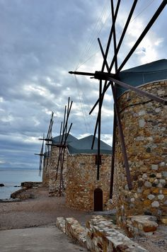 Windmills/ Chios Chios Greece, Perpetual Motion, Homeland, Wind Turbine, Funny Pictures, Greek, Island, Windmills, Country
