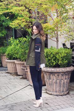 Caroline styles Veronica Beard's Skyline Army Jacket + giveaway