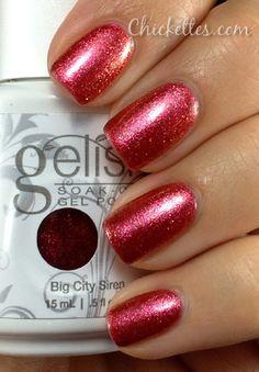 Gelish Big City Siren Swatch... I LOVE this color!
