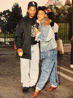 """Virgos In Action! Eazy E and Jada Pinkett Smith:  """"Look at what I found! Eazy and I at one of his charity events:)  Rest in peace E.           J"""""""
