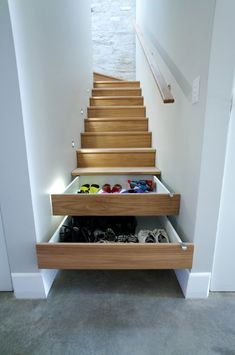 """I've seen this idea before, but I still love the ingenuity of it! """"60 Unbelievable under stairs storage space solutions"""""""