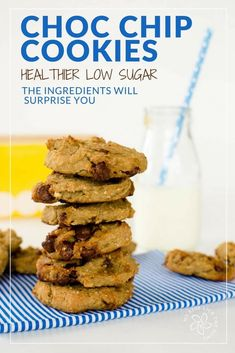 healthy chocolate chip cookies, chewy chickpea cookies recipe, low sugar, easy to make with banana and oats Healthy Cookie Recipes, Healthy Cookies, Healthy Meals For Kids, Vegan Recipes Easy, Baby Food Recipes, Kids Meals, Free Recipes, Baby Meals, Kid Recipes