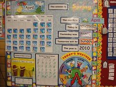 1st Grade Classroom Set Up | ... grade teacher uses a wipe-off white board calendar she found at Wal