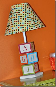 DIY Lamp (with baby's initials?) NHB or SLB :-)
