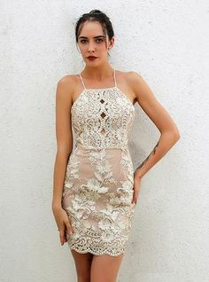 4733effe1 Halter Backless Halter Sequins Dresses Party Dress Prom Dresses 2018