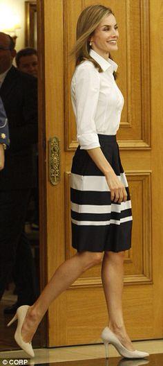 Queen Letizia - monochromatic chic