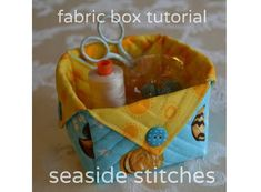 Tutorial: Quilted fabric box-want to make one!