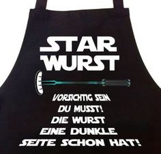 Hahaha - Cooles Mitbringsel für den Grillmeister - Die Wurst isst mit dir - Grillschürze - Star Wurst