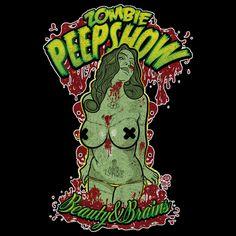 Zombie Peep Show - NeatoShop Zombie Pin Up, Zombie Girl, Rob Zombie, Russ Mayer, Zombie Movies, Gothabilly, Classic Horror Movies, Pin Up Art, Horror Art