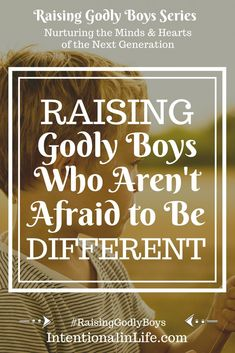 Raising Godly Boys Who Aren't Afraid to Be Different from the Crowd - Going against the grain is social suicide in some cases and yet, this willingness to be different i - Parenting Books, Good Parenting, Parenting Teenagers, Mindful Parenting, Parenting Ideas, Parenting Quotes, Thing 1, Raising Boys, Medical