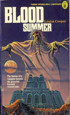 Blood Summer by Louise Cooper (Paperback, for sale online Horror Fiction, Horror Books, Sci Fi Books, Horror Comics, Pulp Fiction, Science Fiction, Vintage Book Art, Vintage Book Covers, Creepy Stories