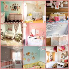 The square in the top right: that's the color I want Lily's room. So saturated, yet so light and airy!