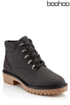 Buy Boohoo Low Ankle Chunky Hiker Boots from the Next UK online shop