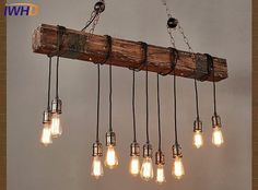 Farmhouse Style Dark Distressed Wood Beam Large Linear Island Pendant Light 10 E . - Farmhouse Style Dark Distressed Wood Beam Large Linear Island Pendant Light 10 Edison Bulbs With thi - Kitchen Island Lighting, Kitchen Lighting Fixtures, Farmhouse Lighting, Dining Room Lighting, Pendant Light Fixtures, Light Pendant, Chandelier Lighting, Pendant Chandelier, Kitchen Islands