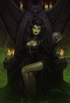 """""""Maleficent fan art"""" by Amanda-Kihlstrom [=> http://amanda-kihlstrom.deviantart.com/art/Maleficent-fan-art-490432841 ]"""