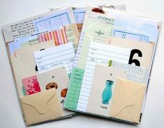 love the different bits of paper. Would be great for art journals.