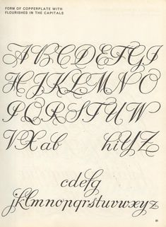 vintage script alphabet ~ Script Lettering M. Meijer ~ form of copperplate with flourishes in the capitals Flourish Calligraphy, Copperplate Calligraphy, Calligraphy Handwriting, Calligraphy Alphabet, Penmanship, Islamic Calligraphy, Calligraphy Doodles, Calligraphy Envelope, Calligraphy Practice