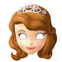 Disney Sofia The First Princess Girls Birthday Party Paper Face Masks for sale online Princess Sofia Birthday, Sofia The First Birthday Party, Disney Princess Party, Girl Birthday, Princess Sofia The First, Birthday Ideas, Princes Sofia, Paper Face Mask, Face Masks