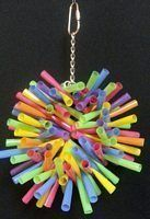 Bird Toy Creations Strawburst on a wire ring