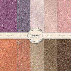 Premium Nude Glitter Digital Papers for Scrapbooks, Crafts, Web & More - Glitter Backgrounds, Glitter Effect, Neutral Glitter Digital Paper