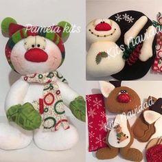 Christmas Decorations, Christmas Ornaments, Holiday Decor, Reindeer, Snowman, Pasta Flexible, Soft Sculpture, Gingerbread, Instagram