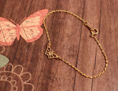 Avon gold tone Butterfly Bracelet vintage 1986 by FrogTears on Etsy