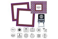 Custom Stamp and Stationery Set, Purple on OneKingsLane.com