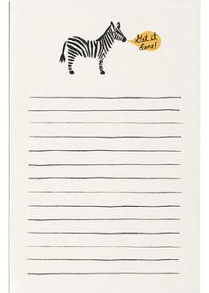 Rifle Zebra Notepad
