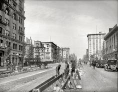 "Washington, D.C., 1920. ""Street scenes, 14th & New York Avenue."""