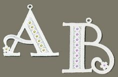 FSL Crystal Alphabet Uppercase - 4x4 | What's New | Machine Embroidery Designs | SWAKembroidery.com Ace Points Embroidery