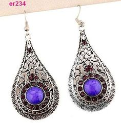 1pair-Stylish-Tibet-Silver-exquisite-Crystal-Earrings-er233-er236
