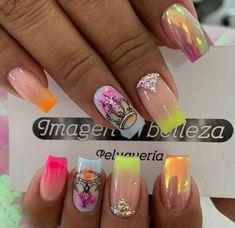 Cute Nails, Pretty Nails, Hello Nails, Animal Nail Art, Short Nails, Nail Art Designs, Manicure, Lily, Beauty