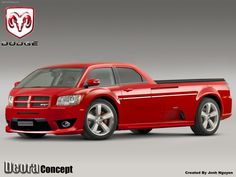 Dodge Deora concept art. I'm not a Dodge guy, but I really want this!!!