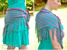 Crochet Shawlette, Shrug and Skirt All in One - Free Pattern via My Merry Messy Life