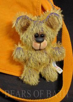 Go Anywhere Bear no:2526  by Bears of Bath 4 inch mohair Keychain #BearsofBath Bears, Teddy Bear, Animals, Animales, Animaux, Teddy Bears, Animal, Animais, Bear