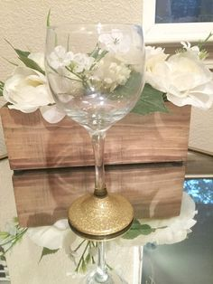10.5 oz Glitter Only Wine Glass