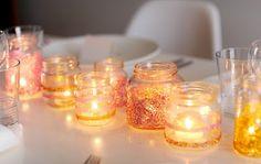 DIY {glitter mason jar candle holder}