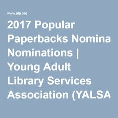 View the nominations for the current Popular Paperbacks for Young Adults list. Library Services, Interesting Reads, Young Adults, Popular, Reading, Books, Livros, Most Popular, Libros