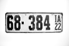 Old 1922 Iowa license plate 68384 IA by AmericanAntique on Etsy