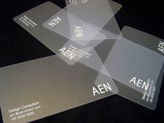 Collection of creative business card designs and cool business cards that everyone should see. Transparent Business Cards, Clear Business Cards, Plastic Business Cards, Unique Business Cards, Business Card Design, Creative Business, Web Design Blog, Free Design, Design Design