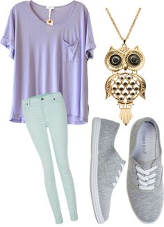 """Comfy School Outfit"" by gracegozag ❤ liked on Polyvore"