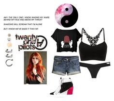 """""""Brianna~Who wants to go to a concert with me?~Open RP"""" by josie-is-an-anon-dork ❤ liked on Polyvore featuring Victoria's Secret, H&M and Giuseppe Zanotti"""