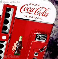 VENDING MACHINES Metal Tin Sign LEFT ARROW Vintage Style Coke Pepsi Candy Soda