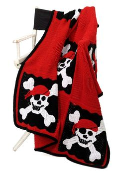 FREE - Crocheted Pirate Throw/Blanket/Afghan. AWESOME for the boys that are so hard to find patterns for!
