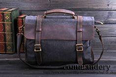 Dark Grey  Handbag/Cow leather bag/ Canvas bag /Backpack/Lather Briefcase /wholesale/ Messenger bag / Laptop bag / leather canvas Bag