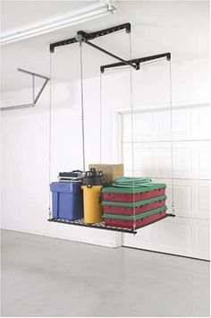 Pulley System Storage Rack For Garage