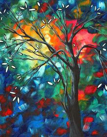 20 Awesome and Mind Blowing Colorful Landscape Paintings by MADART - Fine Art and You - Painting Abstract Landscape, Landscape Paintings, Abstract Art, Abstract Paintings, Canvas Art, Canvas Prints, Art Prints, Fine Art Amerika, Art For Sale Online
