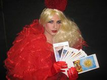 Drag Tarot -Moulin Rouge, Xmas or Valentines themeA scandalous mixture of skilled tarot readings dished up with camp banter, a lot of girlie giggles, a little back combing; glitter and possibly some wardrobe advice; the biggest shock being that this is a
