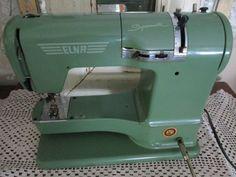 Dk Jadite Green Elna Swiss made Vintage Sewing by NannyLouLousFarm, $95.00