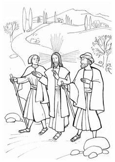 Road to Emmaus Coloring Page | the men with jesus on the road to emmaus had the unbelievable benefit ...
